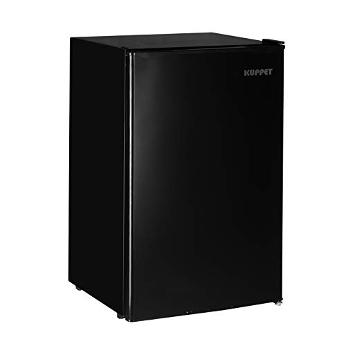Kuppet Mini Fridge Compact Refrigerator for Dorm, Garage, Camper, Basement or Office, Single Door Mini Fridge, 4.6 Cu.Ft, Black