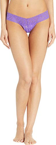 (Hanky Panky Women's Signature Lace Low Rise Thong Vibrant Violet One Size)