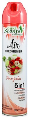 Personal Care 90564-1 Rose Garden Aerosol Air Freshener - 9 oz., Pack of 12 (Spray Royal Rose)