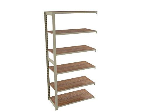 Tennsco RGL-1836A Regal Shelving Add-On Unit, 6 Shelves/5 Openings, 36