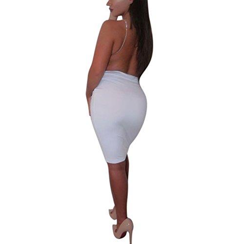 White Womens Dress Spaghetti Evening Party Strap Mini Cocktail Backless Vestido Daxin Bodycon nHqPYgdPx