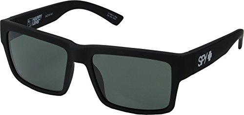 Spy Optic Montana Square Sunglasses, Soft Matte Black/Happy Gray/Green, 1.5 mm (Dirty Mo Spy Sonnenbrille Polarisiert)