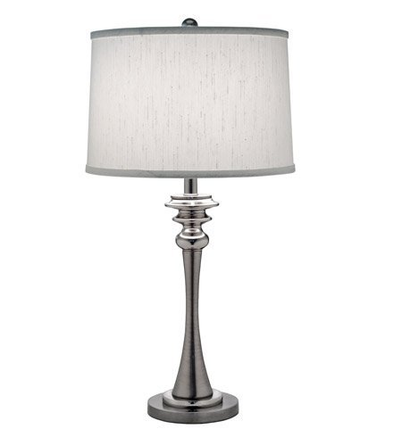 1-Light Table Lamp Antique Nickel/Polished Nickel