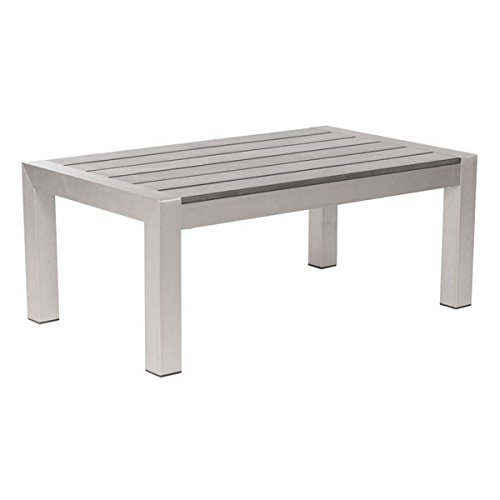 (Zuo 701860 Cosmopolitan Coffee Table, One Size, Brushed Aluminum)