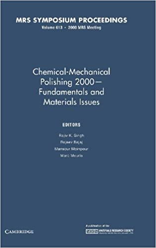 Book Chemical-Mechanical Polishing 2000 - Fundamentals and Materials Issues: Volume 613 (MRS Proceedings)