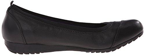 Skechers Mujeres De Roma Slip-On Loafer Black Leather