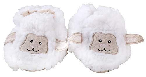 Lamb Booties - Snoozies Baby Plush Sherpa Animal Booties, Lamb- Small