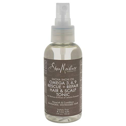 3 Repair Omega (Shea Moisture Sacha Inchi Oil Omega-3-6-9 Rescue & Repair Hair & Scalp Tonic for Unisex, 4 Ounce)