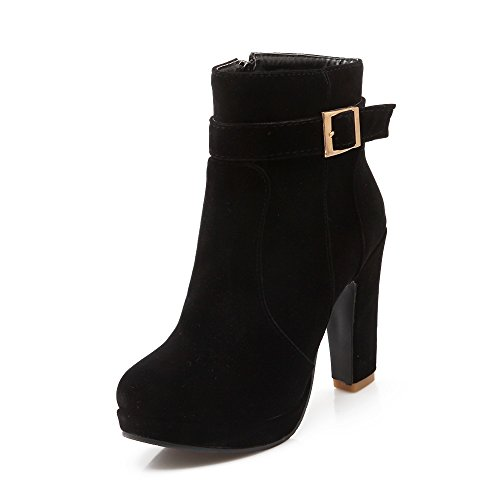 Boot AIWEIYi Western Womens Chunky Ankle Black Bootie Heel 66wfAqpUP