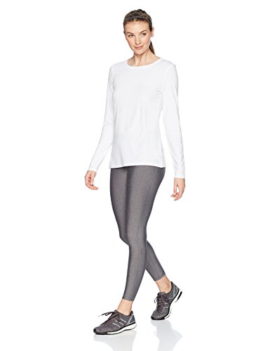 Amazon Essentials Women's Standard Tech Stretch Long-Sleeve T-Shirt, White, Large by Amazon Essentials (Image #2)