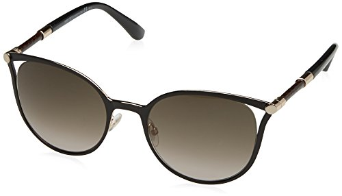 Jimmy Choo Women's Neiza/S Matte Black/Brown Gradient - Round Choo Jimmy Sunglasses