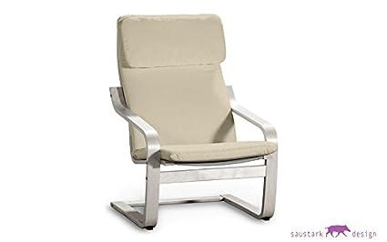 Saustark Design Berlín Terciopelo Crema Funda para sillón para IKEA ...