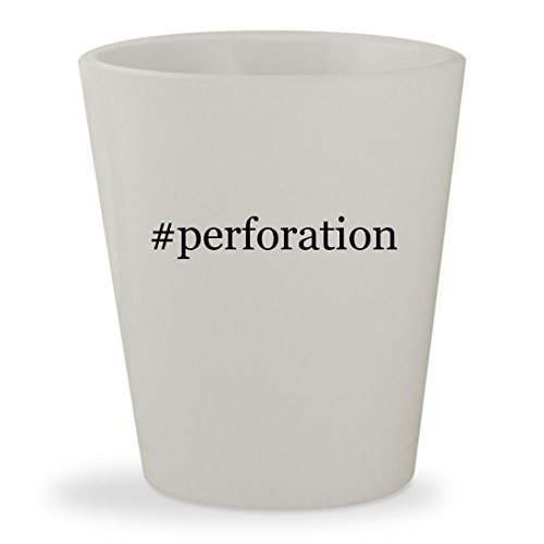 #perforation - White Hashtag Ceramic 1.5oz Shot - Kors Stock Michaels