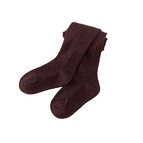 Coffee Blush (Trenton Girls Tights, Baby Toddler Kids Cotton Pantyhose Dance Long Socks Stockings Leggings Coffee 95cm)