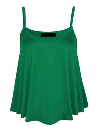 senza donna verde Giada unita tinta da maniche forti Gilet taglie vzq5Ew77