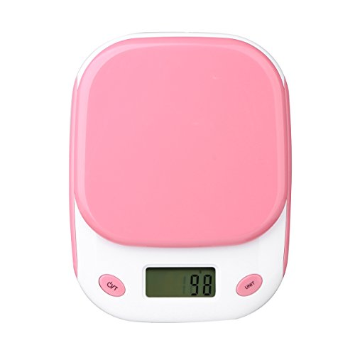 Digital-Kitchen-Scale-ELEGIANT-Digital-Food-Scale-Electronic-Mini-Scale-with-Back-Lit-LCD-Display-1058oz66lb3kg-Capacity-Pink-Batteries-NOT-Included