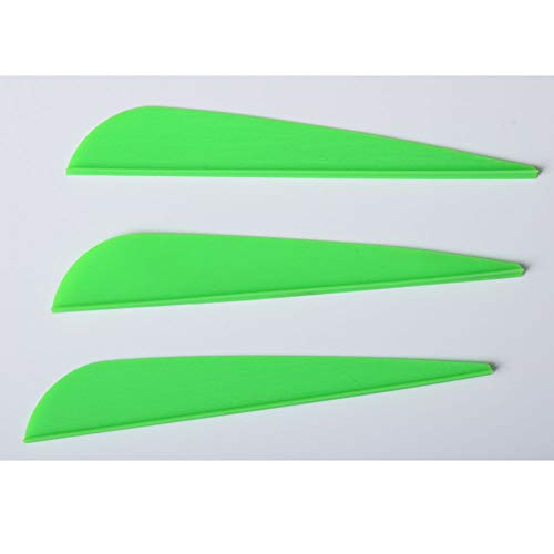 (Archery Arrow Vanes Plastic Vane 3 Inch Feather Fletch for DIY Arrows 105 Pack Green)