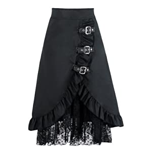 Charmian Women's Steampunk Retro Vintage Victorian Gypsy Hippie Lace Party Skirt