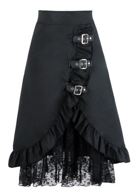 Charmian Women's Steampunk Retro Vintage Victorian Gypsy Hippie Lace Party Skirt 4