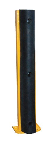 (Vestil G6-36-B Structural Steel Rack Guard with Rubber Bumper, 4 Mounting Holes, 36-1/4