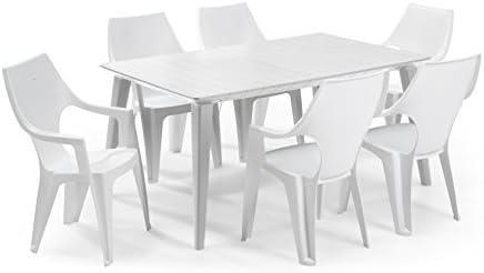 Keter - Set de mobiliario de jardín Lima/Dante (mesa + 6 sillas ...