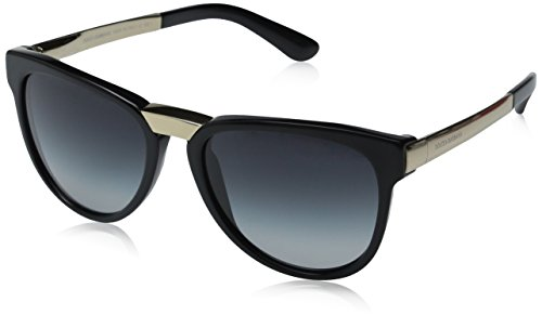 D&G Dolce & Gabbana Womens 0DG4257 Square Sunglasses, Black, 54 - Sunglasses D&y
