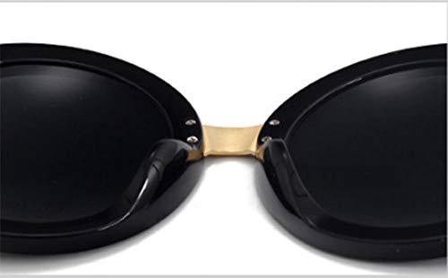 con de Sol QJKai A Sol de Moon Montura Irregulares B Gafas Gafas Redonda YIARqxp