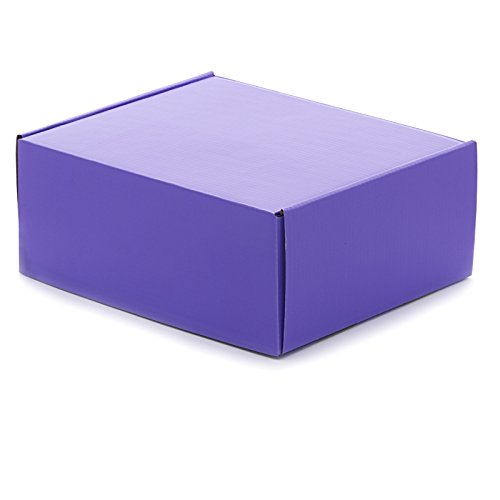 10ea - 12 X 9 X 3 Purple Corrugated Tuck Top Box-Pkg