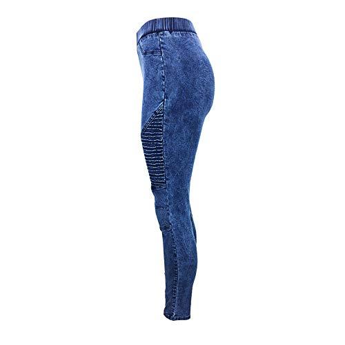 Pantalones Tallas Vaqueros Rawdah Estiramiento Los Manguera Pantalones Mujer De Tallas De Pantalones Vaqueros Apretados del Mujeres De Pantalones Oscuro Grandes Mujer Calzan Azul Grandes wqWTRr4Xq