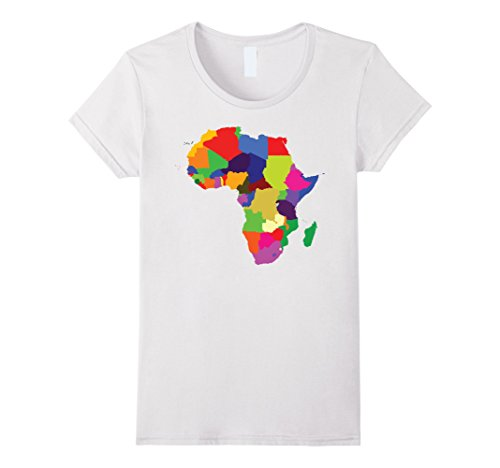 Africa Tee (Womens Africa (Continent) T-Shirt Small White)