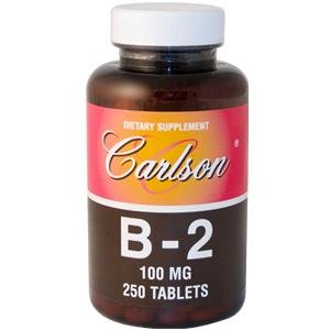 Carlson Labs vitamine B-2, 100 mg, 250 comprimés