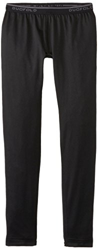 Duofold Boys' Youth mid weight bottom, Black, Medium