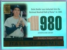 2004 Topps Tribute Hof Cut Edition Duke Snider #Tr-ds Bat Brooklyn Dodgers Baseball Card (Edition Bat Baseball)