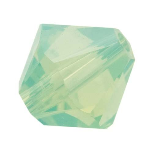 Chrysolite Swarovski 4mm Crystal (Swarovski Crystal, #5328 Bicone Beads 4mm, 24 Pieces, Chrysolite Opal)