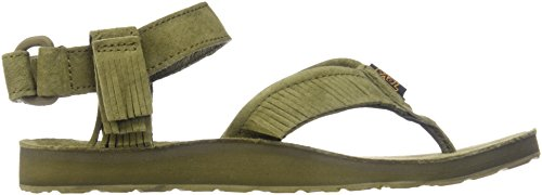 W Teva Sandal Original Leather Dark Fringe Olive Women's v55RwgqZ