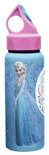 Zak Designs Disney Frozen 17 oz. Aluminum Water Bottle, Anna & Elsa