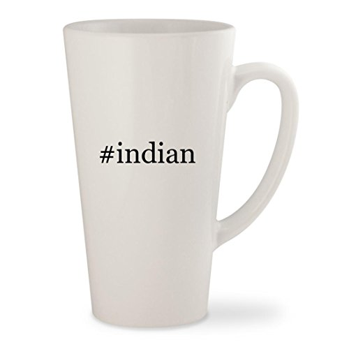#indian - White Hashtag 17oz Ceramic Latte Mug Cup