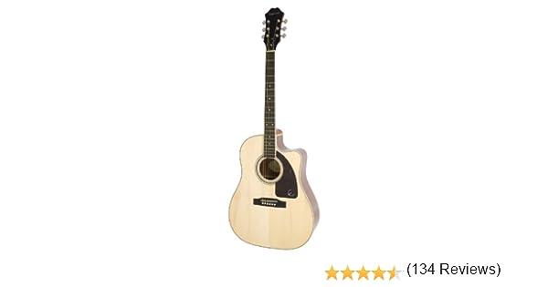 Epiphone AJ-220SCE - Guitarras electroacústicas, color natural: Amazon.es: Instrumentos musicales