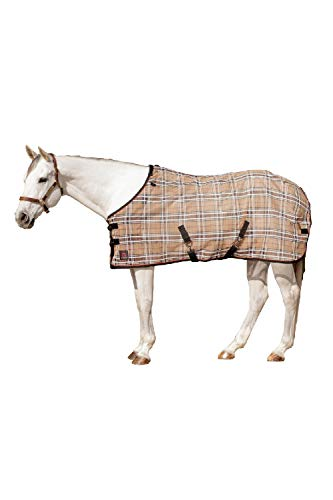 (Kensington Platinum SureFit Protective Fly Sheet For Horses — SureFit Cut With Snap Front Chest Closure — Made of Grooming Mesh This Sheet Offers Maximum Protection Year Round )