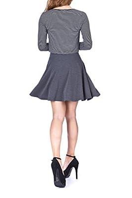 Dani's Choice Swing Swing Wide High Waist A-line Full Flared Swing Skater Short Mini Skirt