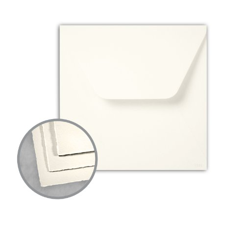 Arturo Envelopes - Arturo Soft White Envelopes - Arturo 7 1/4 Square Inner w/o Glue (7 1/4 x 7 1/4) 81 lb Text Felt 100 per Box