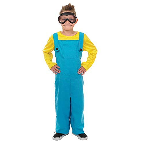 Costume Party Movie Characters (fun shack Kids Yellow Overalls Movie Character Costume Unisex Animated Film Outfit -)