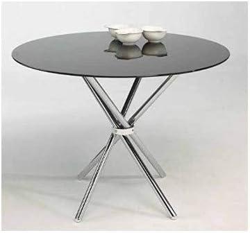 Mesa 80cm de comedor o cocina MIK en cristal blanco o negro ...