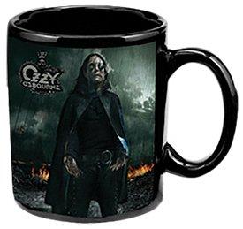 (Vandor 87161 Ozzy Osbourne Ceramic Mug, Black, 12-Ounce)