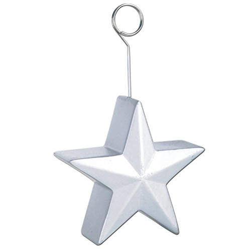Pack of 6 Silver Awards Night Star Photo or Balloon Holder Party Decorations 6 (Silver Star Place Card Holder)