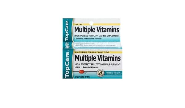 Amazon.com: Top Care Multiple Vitamins Daily Supplement (Case of 6): Health & Personal Care