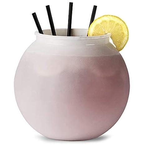 Cóctel de plástico peces cuenco blanco 100oz/2.9ltr por bar @ drinkstuff | bebedores peces cuenco, parte Fish Bowl, Punch Bowl: Amazon.es: Hogar