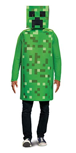Minecraft Costume Creeper (Disguise Men's Creeper Classic Adult Costume, Green, One)