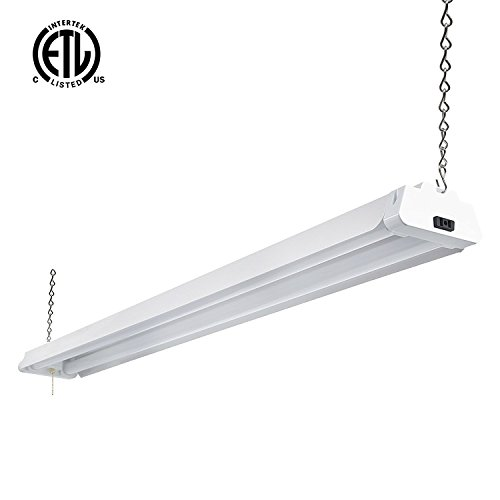 Hykolity 4ft 42 Watt LED Shop Light Garage Workbench Ceiling Lamp 5000K Daylight White 3700 Lumens Linkable Lamp Fixture 64w Fluorescent Equivalent