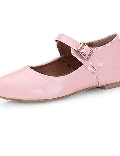 PDX/ Damenschuhe-Ballerinas-Hochzeit / Kleid / Lässig / Party & Festivität-Lackleder-Flacher Absatz-Spitzschuh-Schwarz / Rosa / Rot , pink-us6.5-7 / eu37 / uk4.5-5 / cn37 , pink-us6.5-7 / eu37 / uk4.5